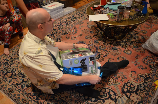 Dave is loving his new X Box, which he got not only as a Christmas gift, but also a reward for finishing Air War College this month!  (Well, we think the hardest parts are behind him...he's not officially finished yet).