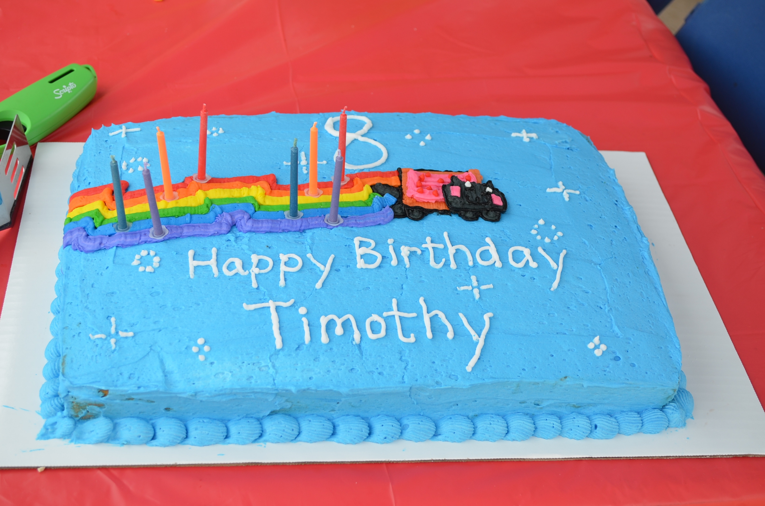 The Cake Was Fun To Make I Happened To Have All The Food Color Gels For  The Rainbow