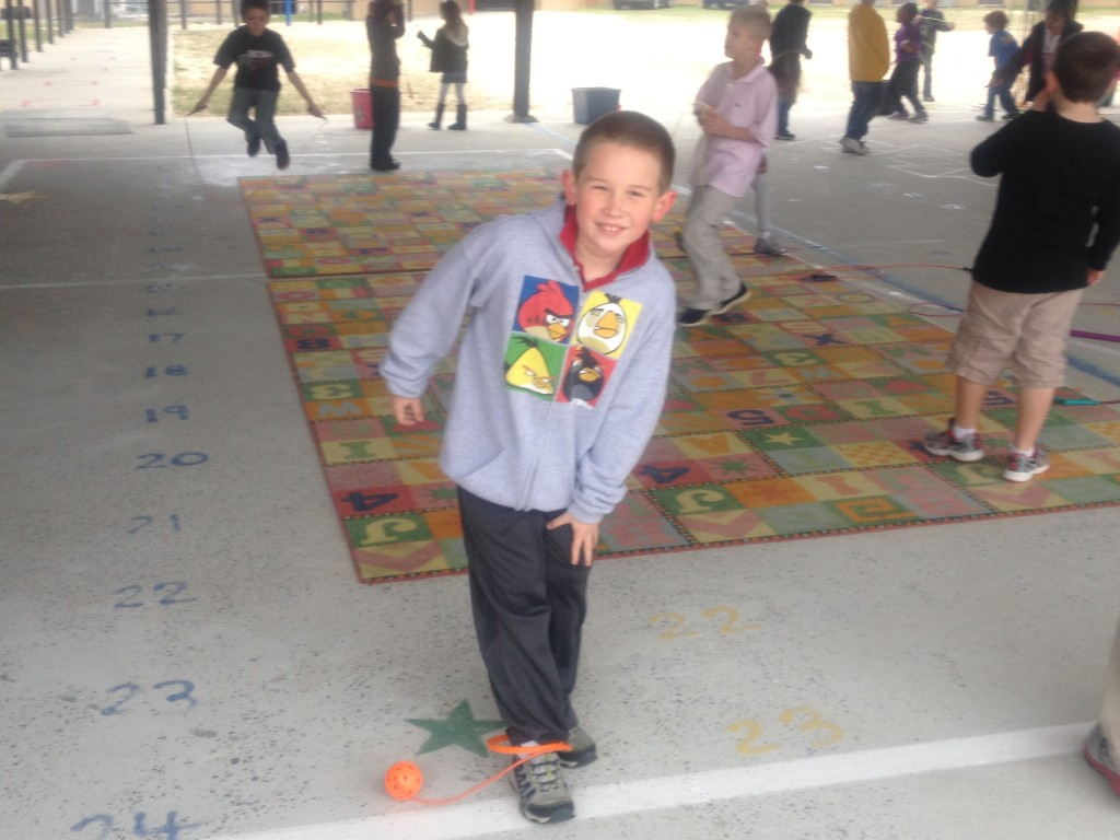 I went with Timmy's class to a Jump Rope for Heart event, the kids collected donations that went straight to the American Heart Association.  Timmy helped raise $95!  Thanks!