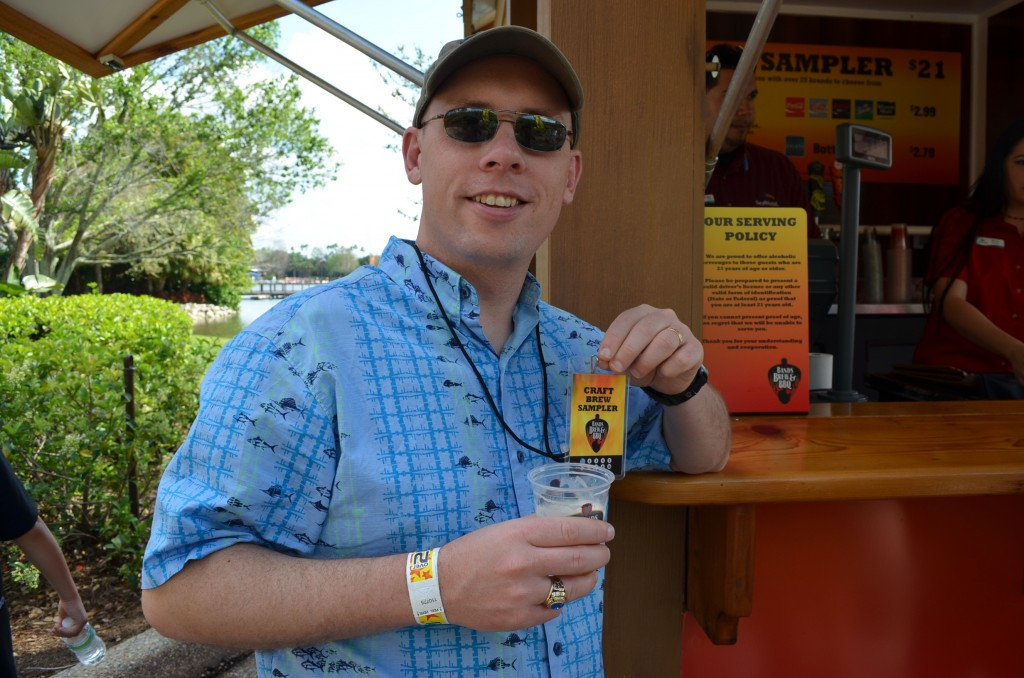 Lucky for Dave and Andy, there was a craft beer festival going on in the park, for $20 you could get a 10-pour punch card.