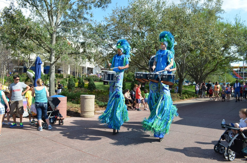 A band on stilts.