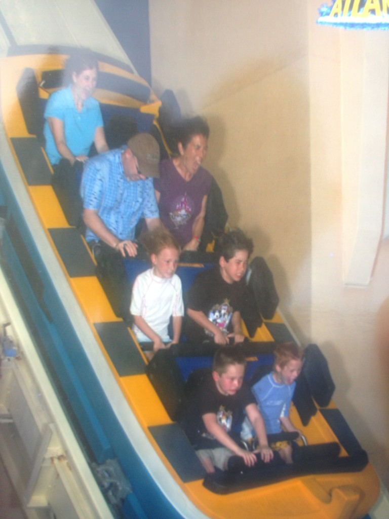 Instead, we rode on the Atlantis water flume ride. And got the picture. Ha!