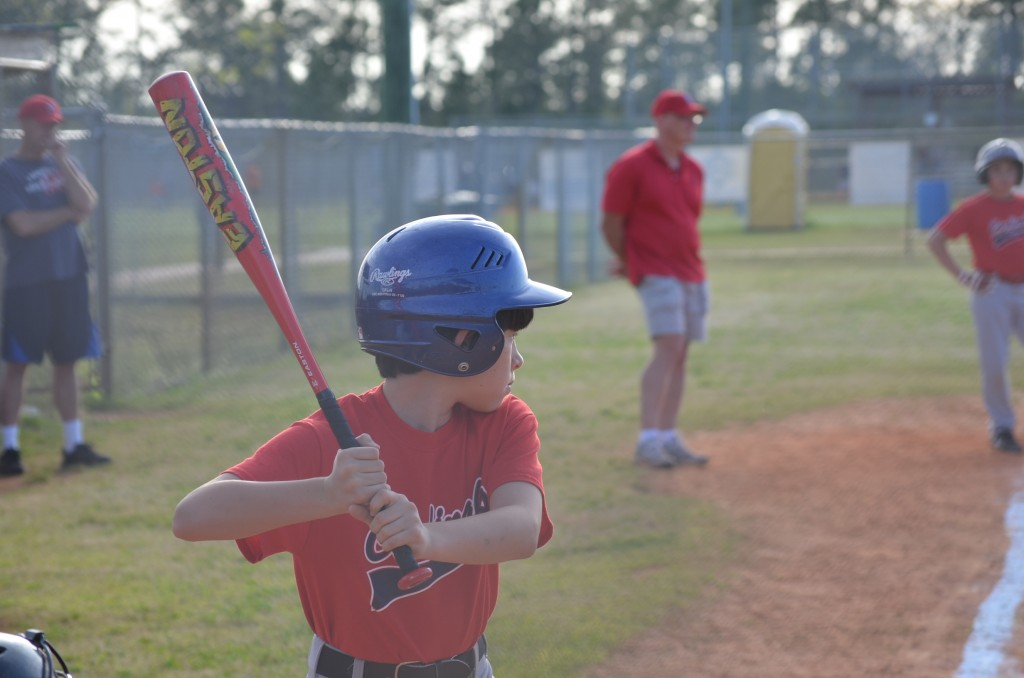 Jacob at bat, but that dratted chain link fence gave me the worst time!
