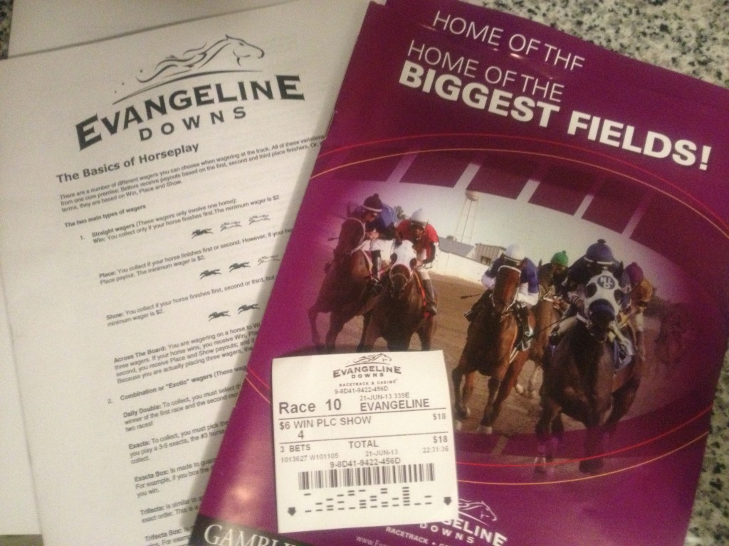 Armed with information -- watch out world! I'm crackin' the code on horse betting!
