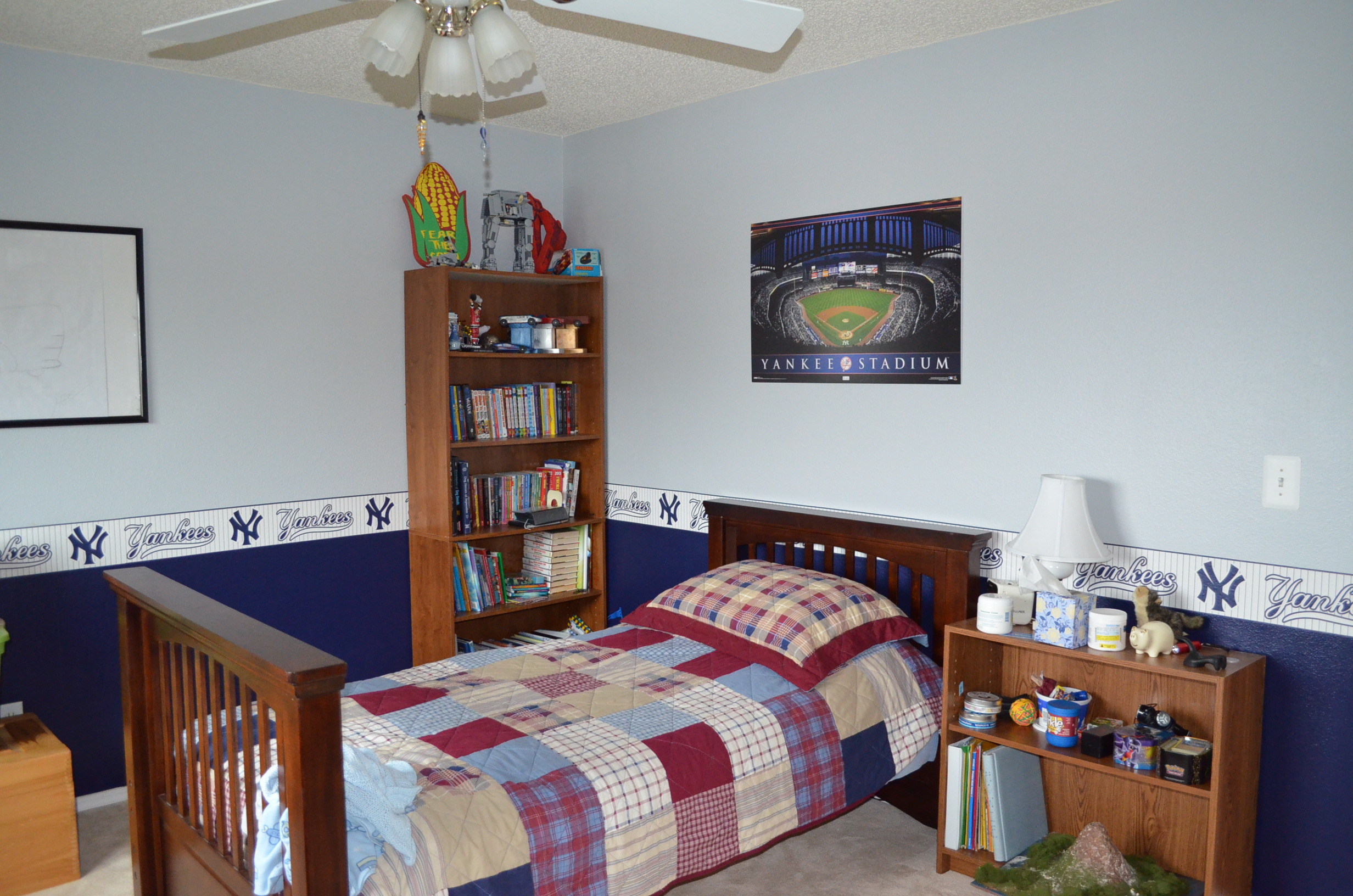 Who needs a Fathead  For the cost of a single Fathead we were able toBoys  Baseball Bedrooms on a Budget   Ground Control to Major Mom. Baseball Bedroom. Home Design Ideas