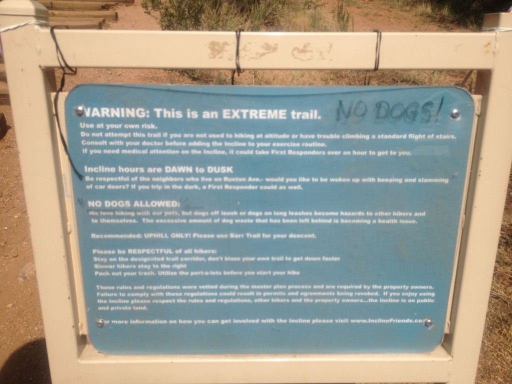 A look at the rules/guidelines for the incline.