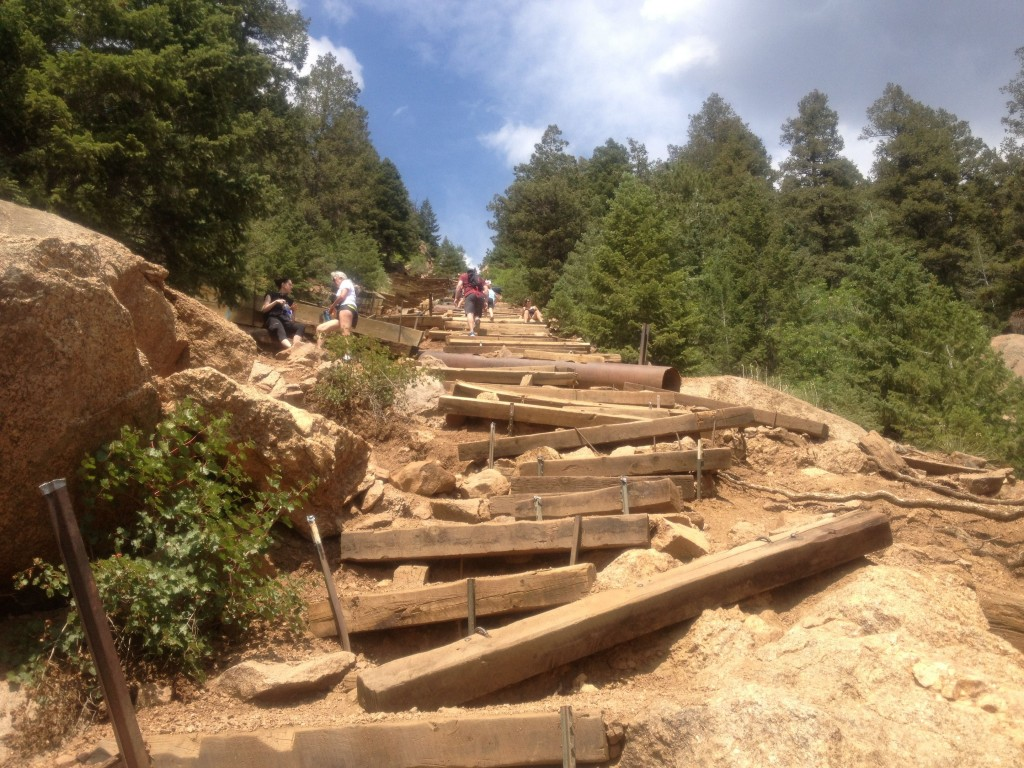 The terrain gets pretty tricky in spots. This is an advanced trail...not recommended for inexperienced hikers.