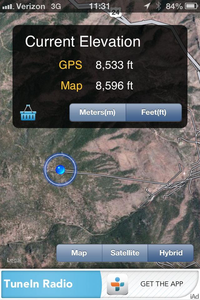 "My ""Elevation"" app was useful to show how high we really were."
