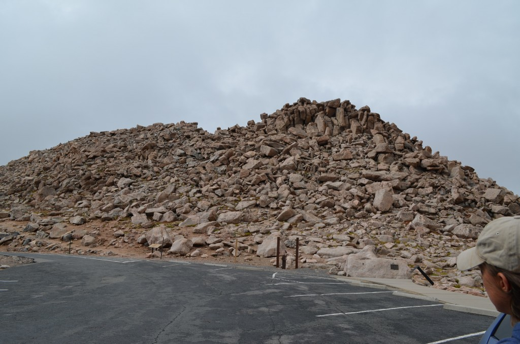 This is the pile of boulders we had to climb to get from the parking lot to the summit.