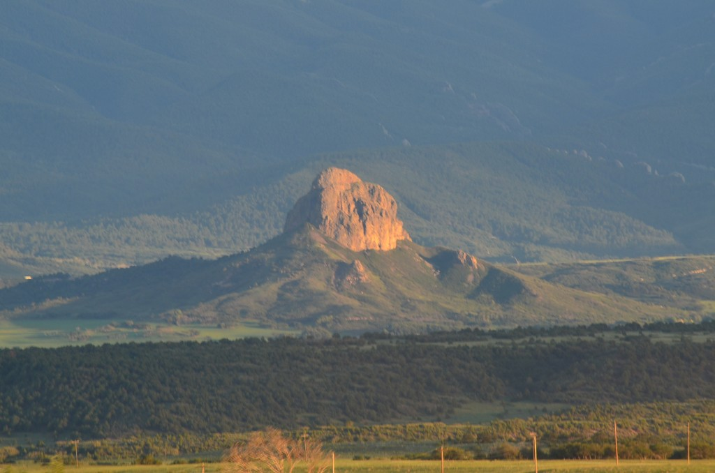 Enjoying my telephoto lens. This is Goemmer Butte near La Veta, Colorado, which was really about 10 miles away from our road.