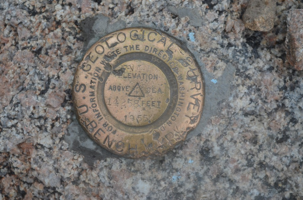 The USGS marker...just shy of the summit.