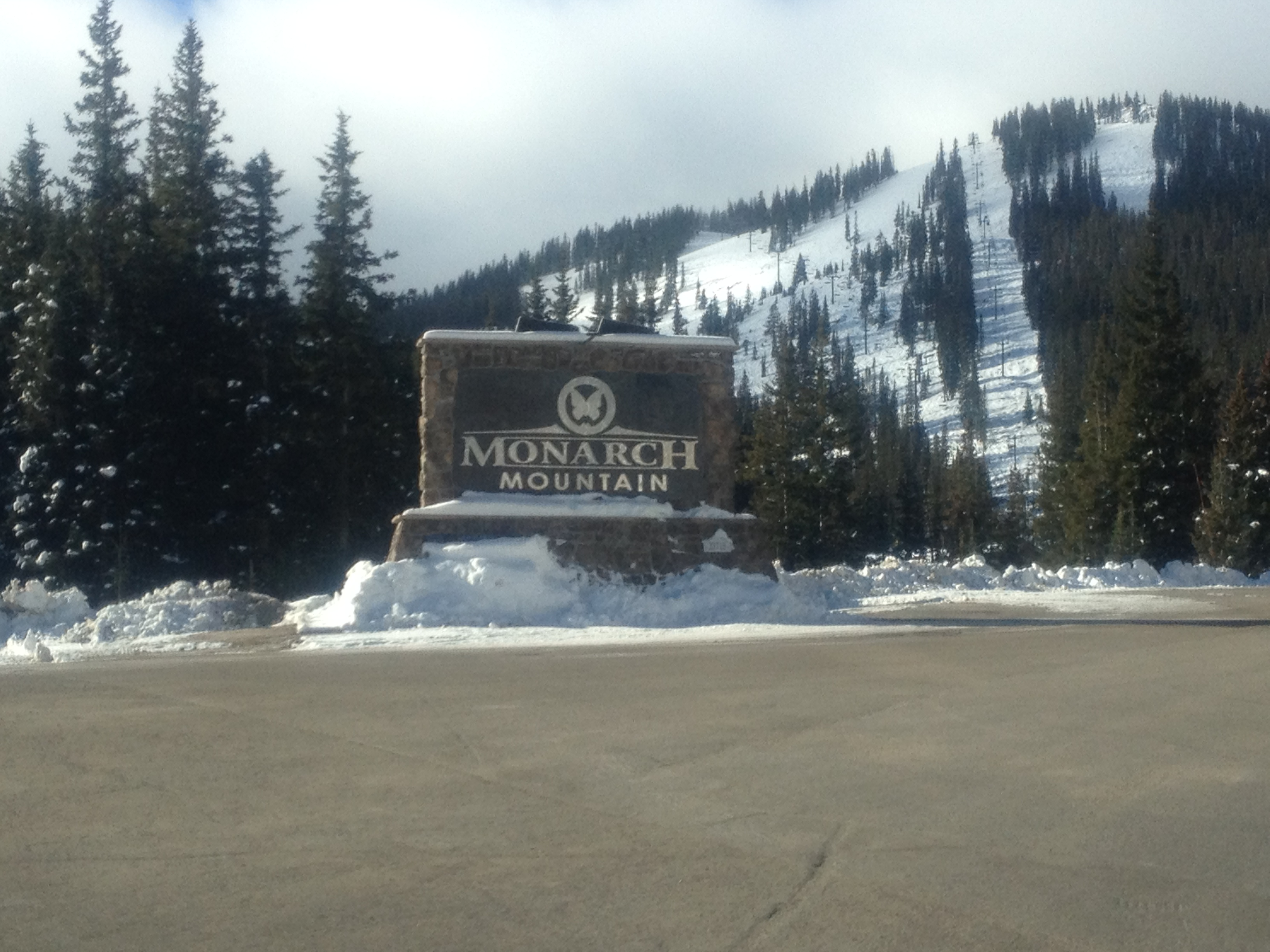 We're here! The turnoff for the resort is just east of Monarch Pass on U.S. 50.