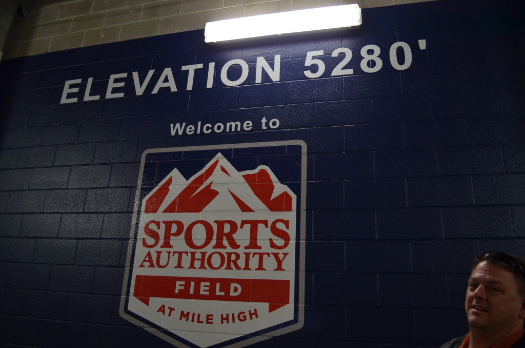 This is what the visiting teams see as soon as they walk out of their locker room. Love it!