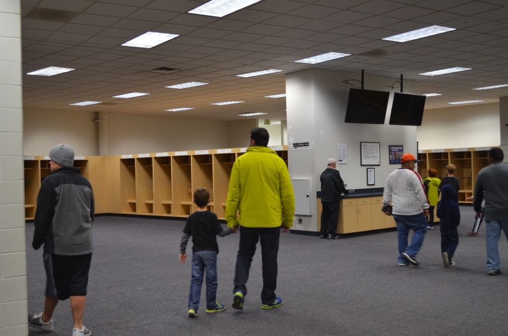 The visiting team's locker room. It's quite immaculate when it's empty.