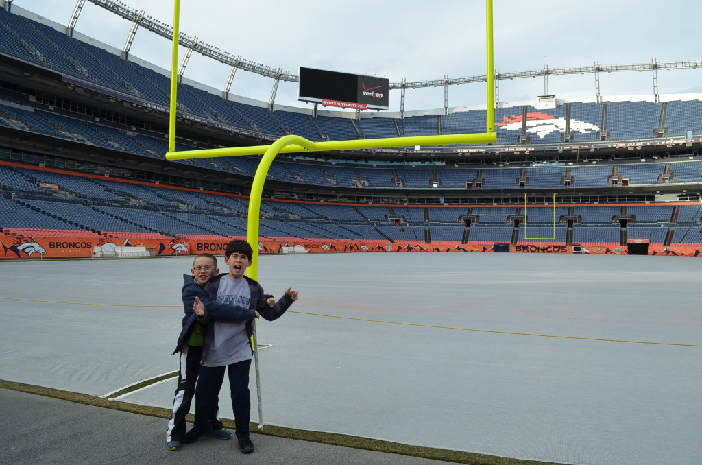 Frankly, my boys aren't huge NFL fans. They deal with my Peyton Manning fandom, and indulge me by wearing his jersey on game day. But they enjoyed this tour (despite their missteps).