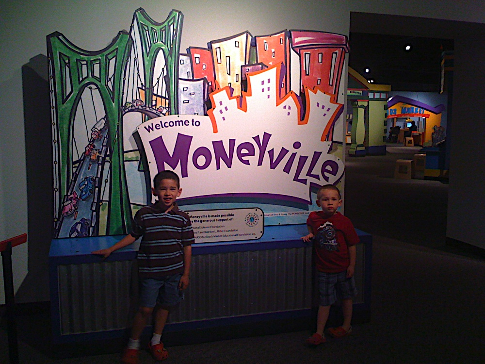 This is from June 2009. The kids obsessed over money -- the minting of money, the history of money, etc. -- for months after this particular visit.