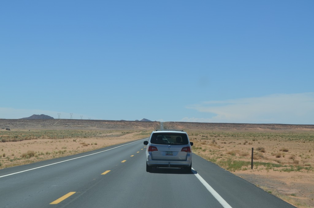 Just west of the Four Corners Monument on US 160.