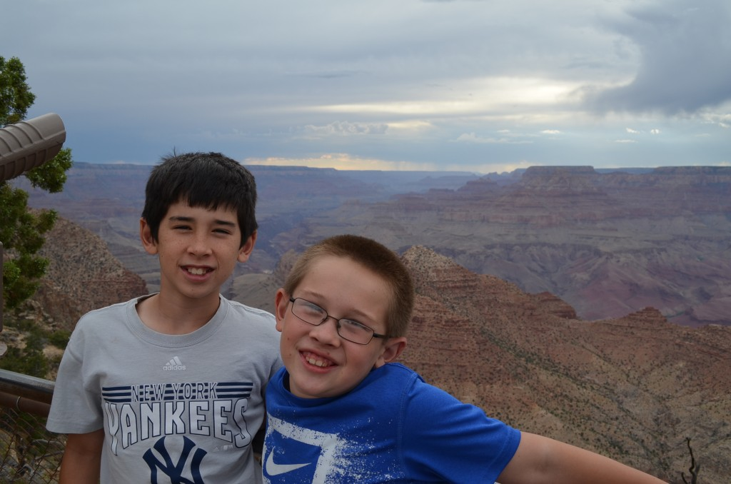 Our first views of the Grand Canyon were breathtaking.
