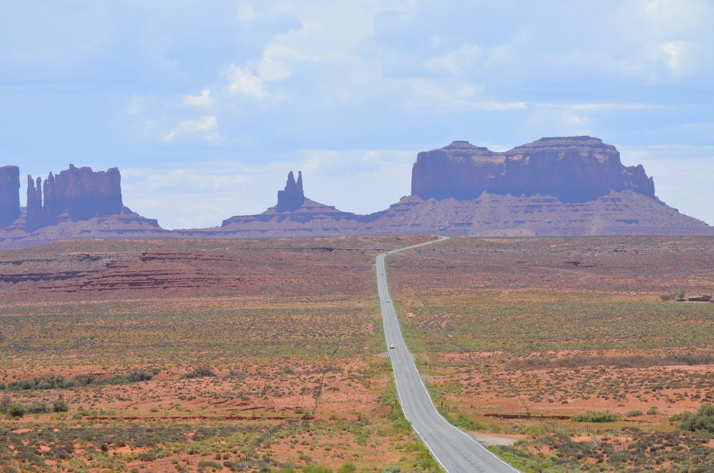 This is a VERY famous view. Read on about Monument Valley.