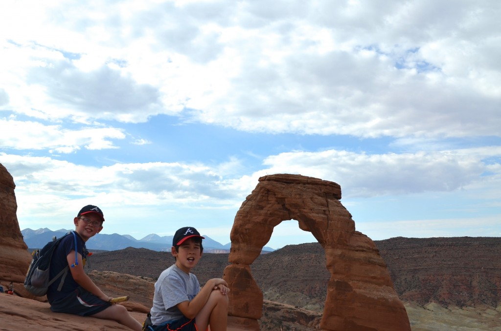 My boys got annoyed in a hurry with my attempts for the perfect Delicate Arch photo. I was doing everything in my power to keep other people out of the shot, which was quite difficult.