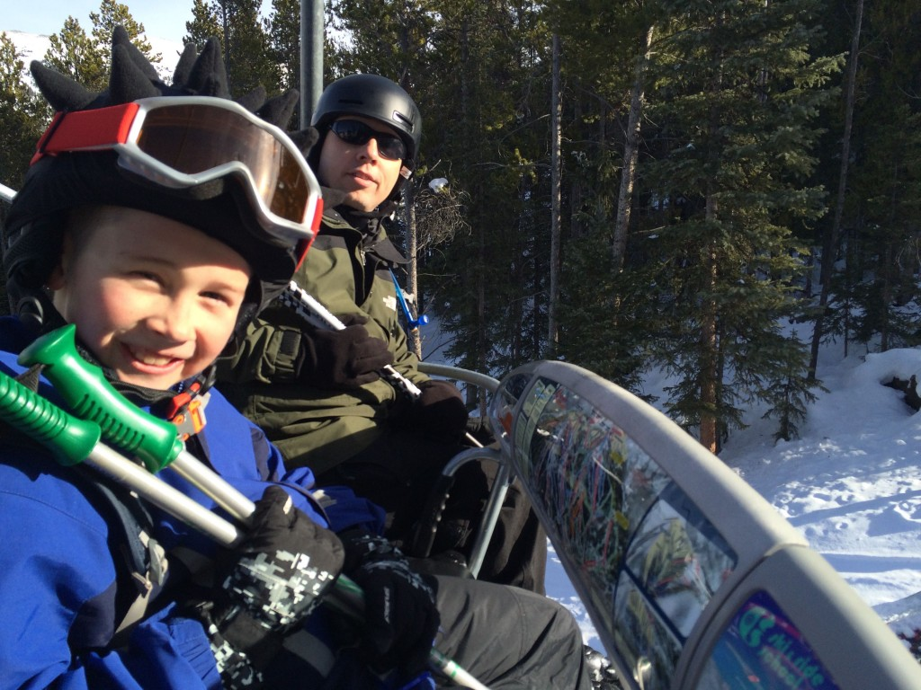 My boys on the ski lift!