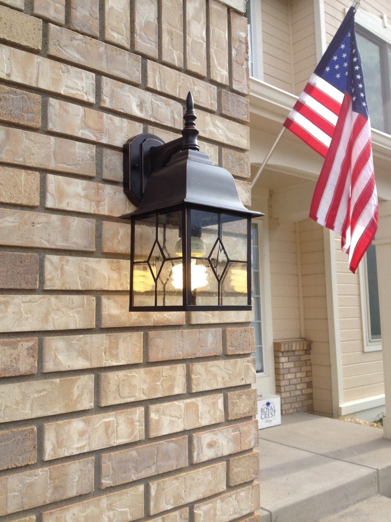 Here's the replacement fixture. It took Dave about 10 minutes to replace it, and it cost about $30 at Lowe's.