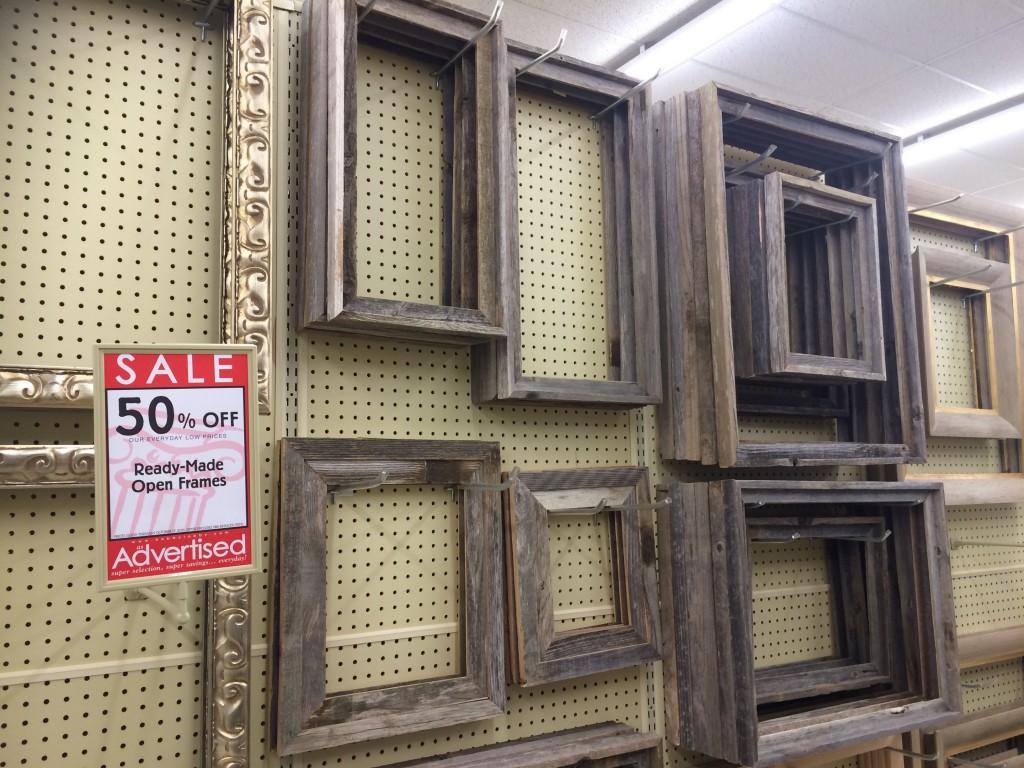 Beetle kill frames! Very inexpensive.