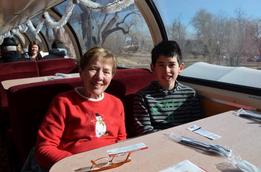 We had diner-style seating on our Vista Dome car.