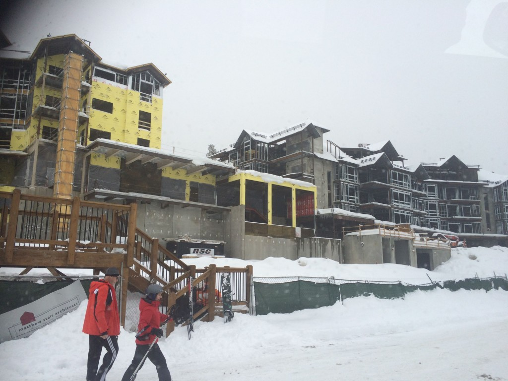 "A photo of the condo complex they were offering as a time share. It's partway up the mountain, with a lift right out the door. The fact this could be our family's ""lodge"" anytime we wanted to use it -- even if we weren't staying overnight -- was also very tempting."