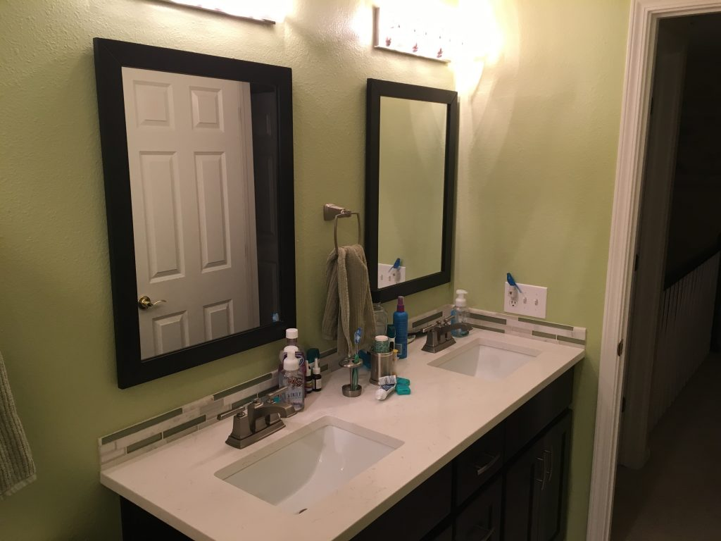 Those little touches like faucets, mirrors, and lighting took us months to figure out.