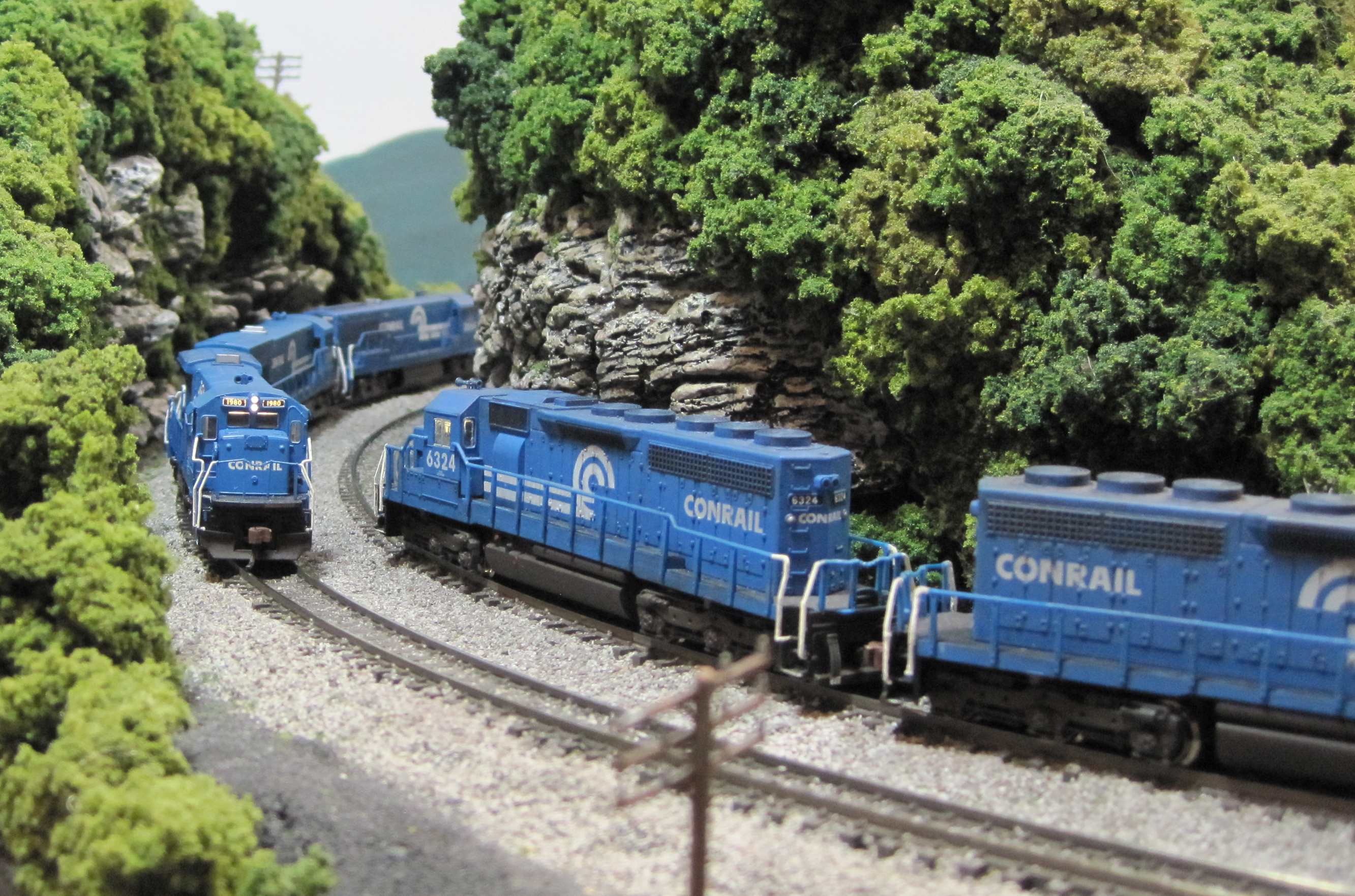 Conrail meet in cut